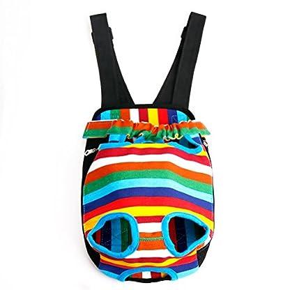 TiaoBug Dog Portable Backpack Carrier Pet Outdoor Travel Bag Hiking Camping 1