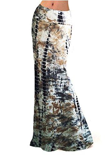 Novias Boutique Damen Maxirock mit hoher Taille, modisch, faltbar Gr. 36, Landscape -