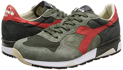 Diadora Heritage Trident 90 Zapatos Man Zapatos Hombre Sneaker Rojo