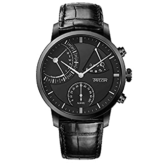 Taylor Forsta Noir Smartwatch All Black Sapphire Glass Stainless Steel tay-abl