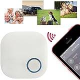 Mini Sans Fil GPS Traceur, GOCHANGE Intelligent Anti-Perte Porte-Clé avec Alarme de Localisation (iPhone HTC Android) pour Enfant, Vieux, Animaux, Porte-Monnaie, Téléphone, Blanc