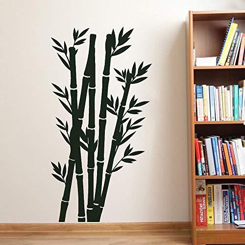 guijiumai Baum Natur Bambus chinesisch japanisch wandtattoo wohnkultur Wohnzimmer Vinyl Kunst Aufkleber Schlafzimmer Panda Essen tapete weiß 42x80 cm (Radierer Japanischen)