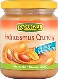 Rapunzel Erdnussmus Crunchy mit Salz, 2er Pack (2 x 250 g) - Bio