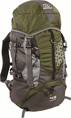 Highlander Mochila de Senderismo, Rucksack Summit 40, Grã¼n, Verde Oliva/Gris, 40 L