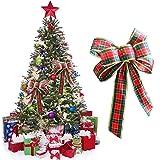 Weihnachtsbaumschmuck, 23 x 25 cm, hochwertige Schottland-Weihnachtsschleife, zum Aufhängen, Dekoration, Party-Zubehör