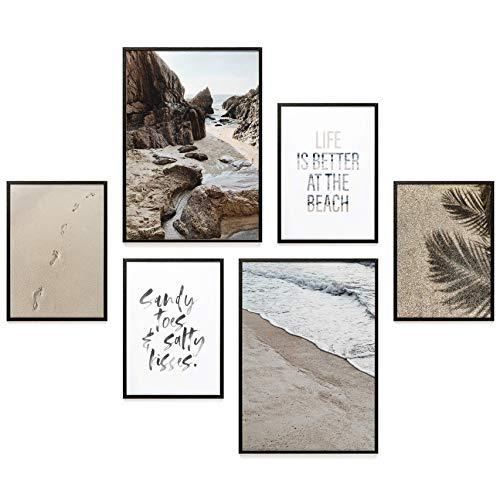 Heimlich® Premium Poster Set | Stilvoller Mix an passenden Bildern für Dein Zuhause | ohne Rahmen » Beach TIME «
