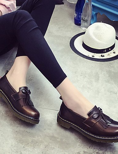ZQ gyht Scarpe Donna-Mocassini-Tempo libero / Formale / Casual-Comoda-Piatto-Finta pelle-Marrone / Borgogna , brown-us8 / eu39 / uk6 / cn39 , brown-us8 / eu39 / uk6 / cn39 brown-us8 / eu39 / uk6 / cn39