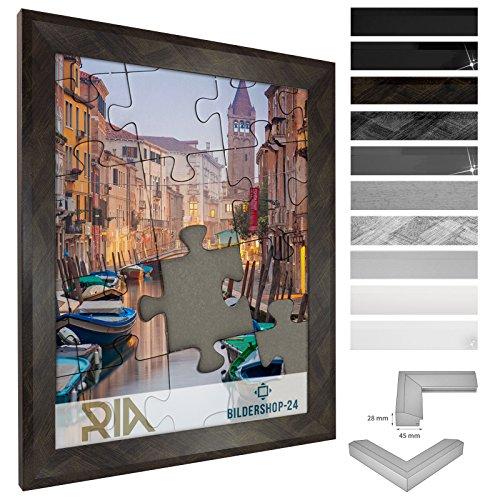 Cadre á puzzle / photo RIA 30x46cm Noir Or brossé pour 200-500 Pièces