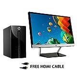 HP 460-p035na (W3B45EA#ABU) Desktop PC Intel Core-i3-6100T / 3.2 Ghz Processor, 8GB RAM, 1TB HDD, DVDRW, HDMI, Card Reader, USB 3.0, Windows 10 - Bundle With 21.5-inch HP LED Monitor with Free HDMI Cable.