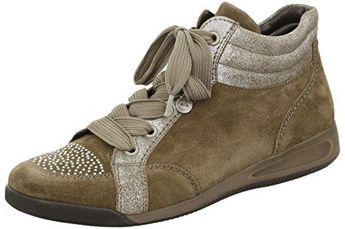 ara Ladies Brown Boot ROM STF 12-44430-07 TECK TAUPE, Gr. 37-42, Suede braun