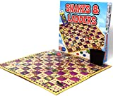 Snakes and Ladders by Laeto Toys and Games for Kids Children or Adults Traditional Board Game Ideal Family Perfect Gift Games Chutes