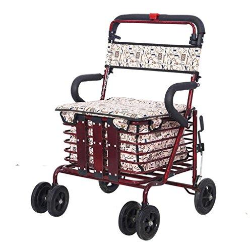 Hierro de carro de compras plegable viejo a aumentar abono para comprar alimento ocio puede ser empujado a tomar de la vespa de la movilidad , b