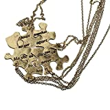 Lux Accessories Burnish Gold Always Together Puzzle Best - Best Reviews Guide