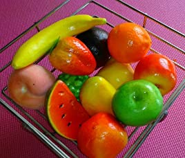 Ethnic Karigari Home Decor Thermacol Artificial Fruits (Multicolour)-Pack of 12