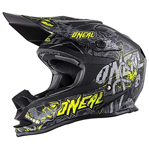 O'Neal 7 Series Evo Menace Motocross Enduro MTB Helm schwarz/grau/gelb 2018 Oneal: Größe: M (57-58cm)