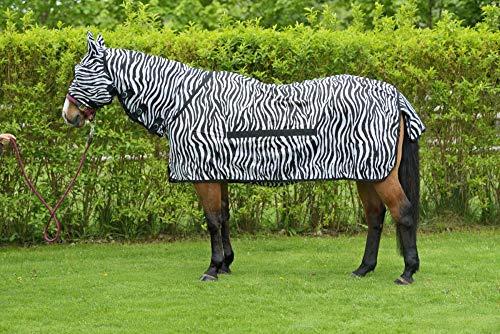 RidersDeal Collection Fliegendecke Zebra inkl. Halsteil, Größe: 145cm, Farbe: Schwarz-Weiß