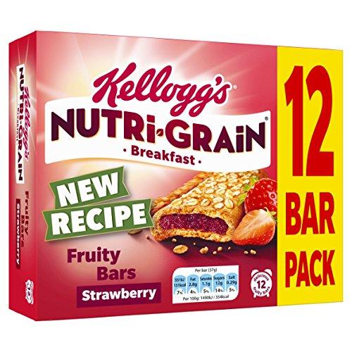 Kellogg's Nutri-Grain Fruity Breakfast Bars Strawberry, 12 x 37g Bars Test