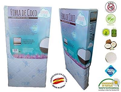 Colchón Cuna Coco-Látex Tratamiento áloe vera y bambu