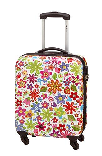 Koffer Trolley-Reisekoffer Kabinentrolley FLOWER BUNT Hartschale S 55