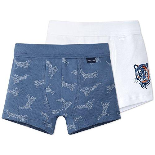 Schiesser Jungen Boxershorts 2pack Hip Shorts, 2er Pack, Mehrfarbig (Sortiert 1 901), - Shorts Boxer Junior