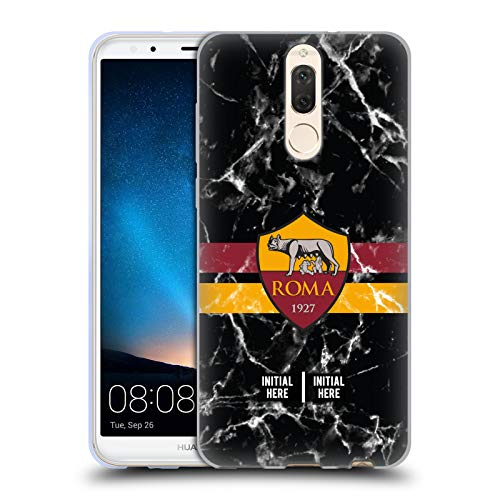 Personalizzata Personale AS Roma Marmoreo Strisce 2018/19 Cover in Morbido Gel Compatibile con Huawei Mate 10 Lite
