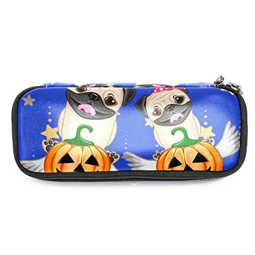 en mit Halloween-Hunden mit Kürbis-Motiv, Federmäppchen, Make-up-Tasche für Studenten, Schreibwaren, Stifthalter für Schule/Büro ()