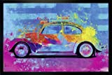 Close Up Splash Buggy Beetle Poster Parker Greenfield (96,5x66 cm) gerahmt in: Rahmen schwarz