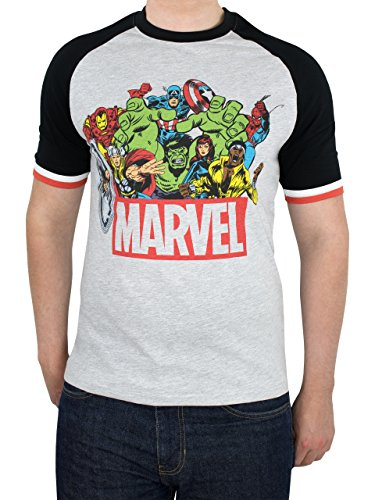 Marvel Avengers Herren T-shirt Marvel Comics (Captain Film America Passt)