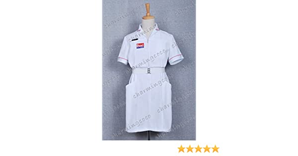 8b4e6dcd0d15c Joker Nurse Uniform White Nurse Costume Clothing By Charmingcoco (L):  Amazon.co.uk: Clothing