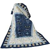 Bassetti 9278071 Granfoulard Plaid Oplontis V9N Größe: 135 x 190 cm, blau