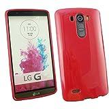 Emartbuy® LG G4 Glänzend Gloss Gel Skin Tasche Hülle Rot