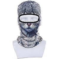 GSD–Máscara Invierno Motocicleta pasamontañas capucha al aire libre deporte Cosply disfraz calentador de cuello con 3d animal impreso esquí máscara, Cat#1