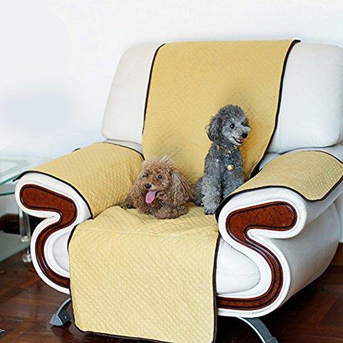 PinShang, copridivano per Animali Domestici, AntiGraffio, Antiscivolo, Tappetino per Capelli, Protezione per Piccoli Gatti e Cuccioli Yellow