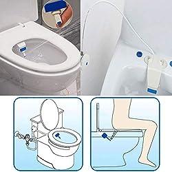 WC-Sitz Bidet für 1/2 Zoll Wasserrohr Gelenk, selbstreinigende Sprayer, Frischwasser nicht elektrisch mechanisch Badezimmer Spülung Sanitär Gerät, weiß