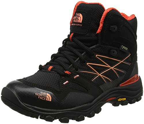 THE NORTH FACE Damen Hedgehog Fastpack Trekking- & Wanderhalbschuhe, TNF Schwarz/fire Brick Rot, 41 EU (North Damen Face The Stiefel)
