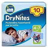 DryNites Mutandine Assorbenti per la Notte per Bambino, 17 - 30 kg, Confezione da 10 Pezzi