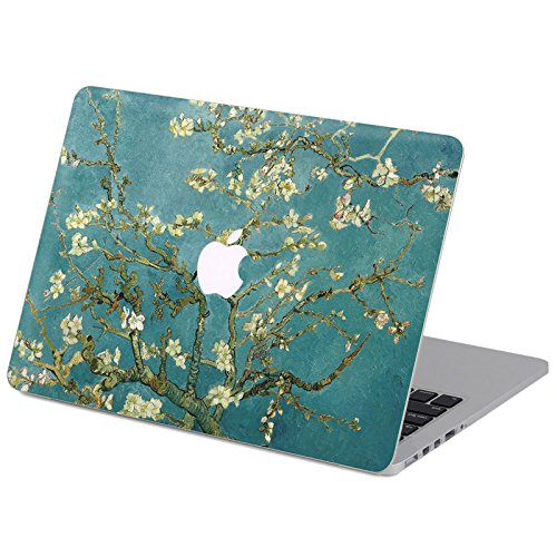 on Hochwertige Hartschale Ultra Dünn Snap Case Schutzhülle Für MacBook Air 13 Zoll (Model A1369 / A1466) (mandel - filialen in voller blüte) (Halloween-van Gogh)