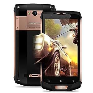 Blackview BV8000 Pro Smartphone,5.0 Pollici Display Android 7.0 4G Telefono Cellulare,IP68 Waterproof /Dustproof /Shockproof Moible Phone,MTK6737 Octa-core 1.64GHz,6GB RAM + 64GB ROM,16.0MP+8.0MP Dual Camera,Dual Sim 4180mAh Batteria,Gesture Wakeup,WiFi/Hotkont/GPS/OTG/ OTA/NFC Cellulare - Oro