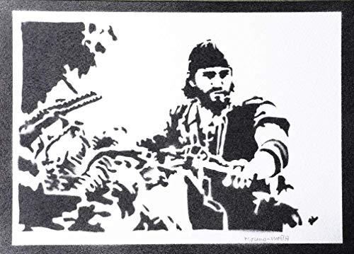 Days Gone Deacon St. John Poster Plakat Handmade Graffiti Street Art - Artwork