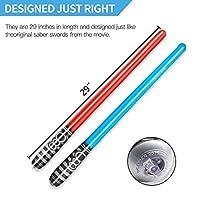 Yojoloin 6 UNIDS Inflables Star War Light Saber Sword Stick Globos para Suministros de Fiesta Favores de Fiesta Globos Color Aleatorio (6 PCS) de Yojoloin