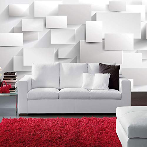 3D tapete Wandbilder 3D Stereo Promenade Weiß Wohnzimmer Schlafzimmer Tv Hintergrund Individuelle Größen 137,7X100,7 Zoll