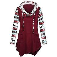 Geili Damen Sweatshirt Weihnachten Renntier Schneeflocken Muster Langarmshirt Hoodie Frauen Herbst Asymmetrisch... preisvergleich bei billige-tabletten.eu