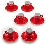 Tognana 6 Tazas de Café Elegant rojo