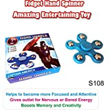 #7: Fidget Hand Spinner - Type 8 . Sturdy & Durable Plastic Material. Attention & Concentration Builder. Stress Reducer & Anti Anxiety for Children / Adults