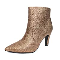 Lunar Gala Metallic Ladies Ankle Boot 3 UK Gold