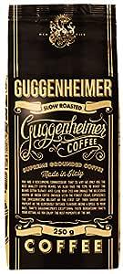 GUGGENHEIMER COFFEE - 500 g Espresso Kaffee GEMAHLEN - wenig Säure und Bitterstoffe - Bester Espresso für Espressokocher - Aromabeutel zu 2 x 250g