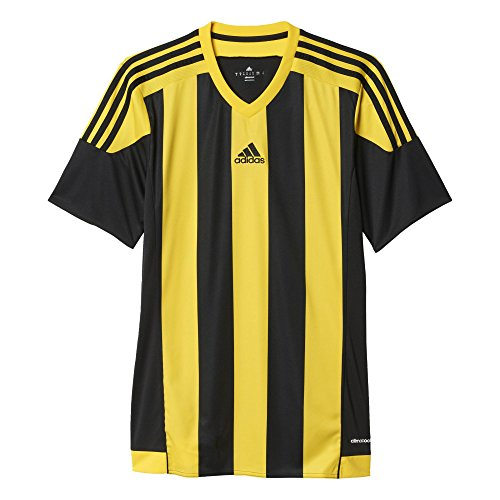 adidas Jungen Trikot Striped 15 Short Sleeve, schwarz (Black/Yellow), 128, S16143 -