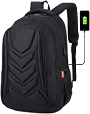 MMPY Laptop Backpack For 18 Inch Laptops/Anti-Theft Travel Laptop Rucksack With USB Charging Port/Waterproof Backpack Cover,C