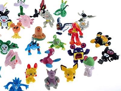 seguryy - Juego de 72 figuras de Pokemon (2-3 cm) de seguryy