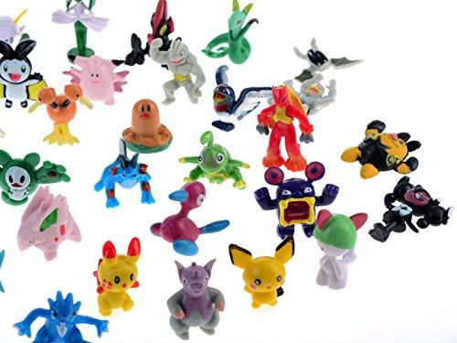 seguryy - Juego de 72 figuras de Pokemon (2-3 cm)